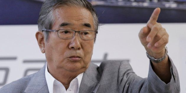 In this Sept. 7, 2012 photo, Tokyo Gov. Shintaro Ishihara reacts during a news conference in Tokyo. Tokyo's...