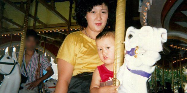 林真須美と幼い頃の長男
