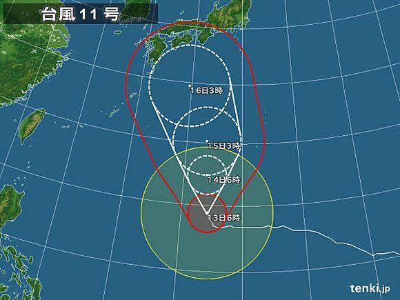 【台風情報】今後は台風11号に要注意