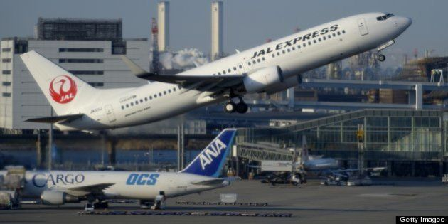A Boeing Co. 737 aircraft operated by Japan Airlines Co. (JAL) takes off at Haneda Airport in Tokyo,...