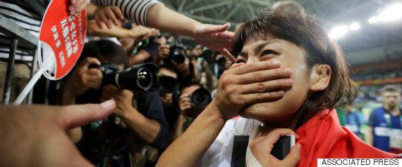 川井梨紗子が金メダル、恩師・栄監督に感謝の豪快投げ【リオオリンピック】