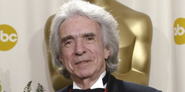Winner of the Jean Hersholt Humanitarian Award Arthur Hiller poses with his Oscar trophy during the 74th...