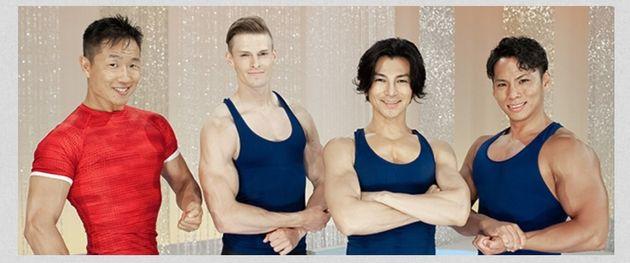 (左から)谷本道哉さん、村雨辰剛さん、武田真治さん、小林航太さん