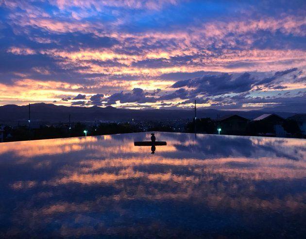 ウユニ塩湖は山形にあった。思わずそう言いたくなる光景が撮影される