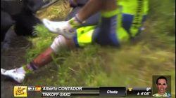 「『右ひざを切り、大量の血が流れた』大本命コンタドールもツールを去る」ツール・ド・フランス2014 第10ステージ