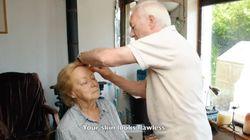 目が不自由な妻のためにメイクを覚えた おじいちゃんの愛ある行動に感動広がる