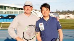 杉村太蔵、元プロテニスプレーヤーと対戦