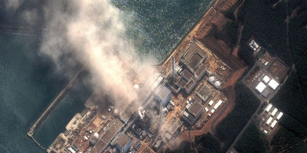 FUTABA, JAPAN - MARCH 14: In this satellite view, the Fukushima Dai-ichi Nuclear Power plant after a...
