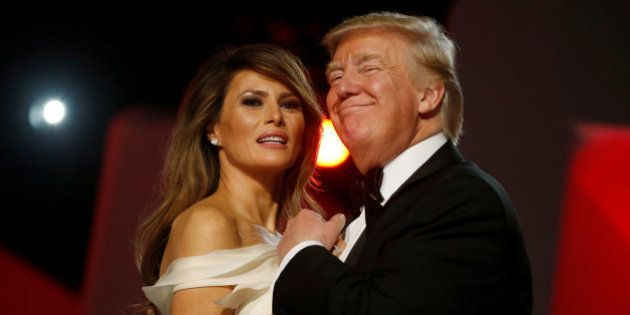 U.S. President Donald Trump and first lady Melania Trump attend the Freedom Ball in honor of his inauguration...