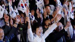 韓国・朴槿恵大統領、日韓関係の言及は一言のみ 国会議員は竹島上陸
