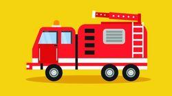 うどん店に消防車で乗り付けて口頭注意