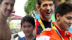 フェルプスに勝ったジョセフ・スクーリング、8年前は王者に憧れる少年だった(画像)【リオオリンピック】