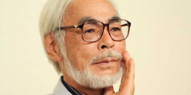 TOKYO, JAPAN - SEPTEMBER 06: Animator/ Director Hayao Miyazaki attends a press conference to announce...