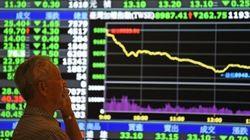 中国・上海株価、終値は5.9%の下落 東証も急落、「バブル崩壊」へ警戒感
