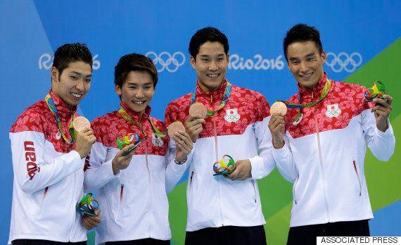 競泳男子、東京オリンピック以来の快挙 日本が800mリレーで銅【リオオリンピック】