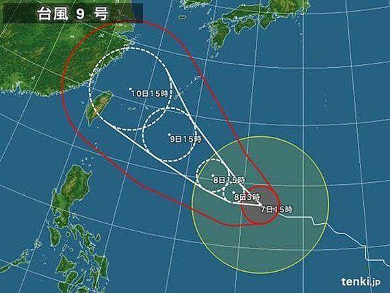 【台風情報】台風9号 荒れた天気が長引くおそれ