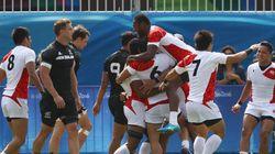 7人制ラグビー男子、日本がニュージーランドに歴史的大金星【リオオリンピック】