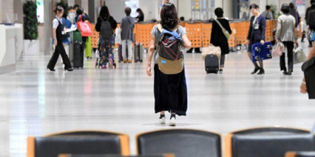 新千歳空港の到着ロビーは閑散としていた=2018年9月13日午後5時26分、迫和義撮影