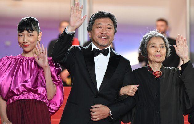 映画「万引き家族」がカンヌ映画祭でパルムドールを受賞した=2018年5月