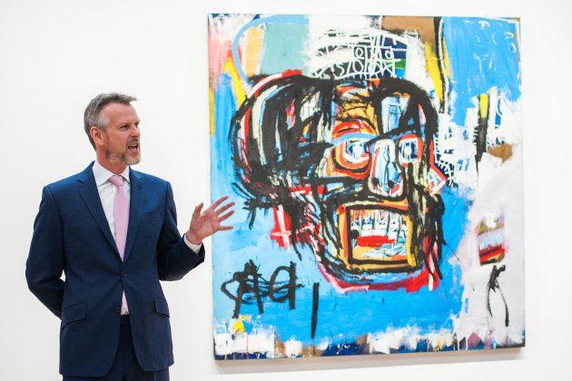 前澤さんが123億円で落札したジャンミシェル・バスキアの作品