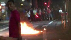 商店街のサンバイベントに火炎瓶、15人けが 発火の瞬間、現場は騒然(動画)