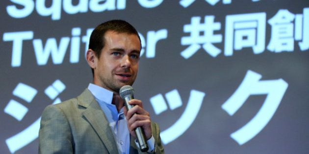 Jack Dorsey, chief executive officer of Square Inc. and co-founder and chairman of Twitter Inc., speaks...