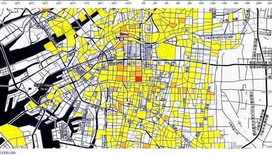 大阪ひったくりマップ オープンデータを基に視覚化