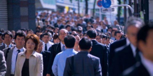 Pedestrians, rush hour, Tokyo, Japan,