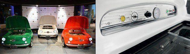 とってもキュート! イタリア車「フィアット500」の形をした冷蔵庫!