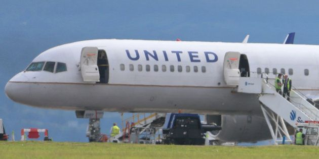 Activity surrounding a United Airlines flight from Britain which has made an emergency landing in Dublin