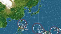 梅雨の台風3姉妹、13年ぶりに出現 大雨に警戒を(深水瑶子)