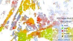 人種による居住地域、アメリカでは多様性の都市ほど住み分けが進んでいることが多い