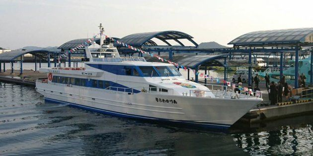五島産業汽船の高速船「ありかわ8号」(同社の公式Facebookより)