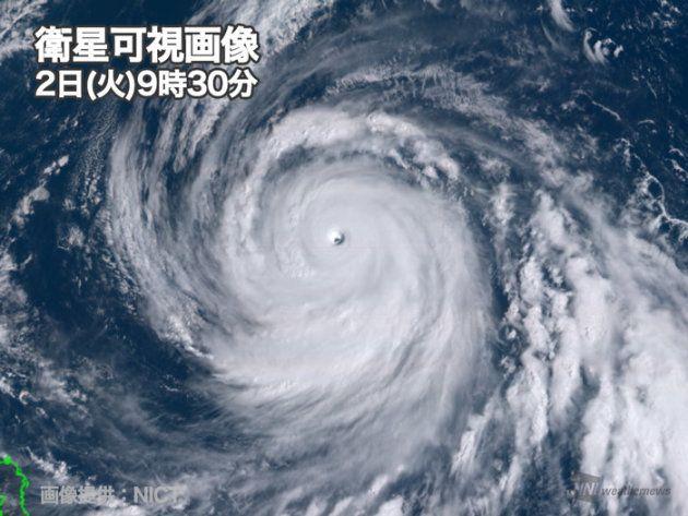 猛烈な勢力の台風25号