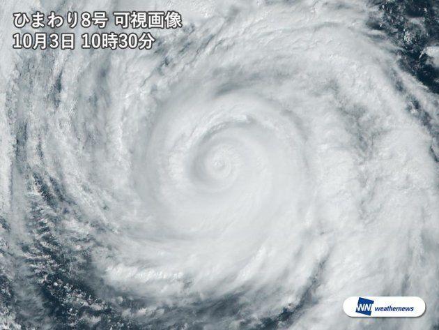 台風25号、沖縄の一部が強風域に。大型で非常に強い勢力