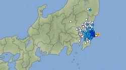 【地震情報】千葉県・茨城県で震度4