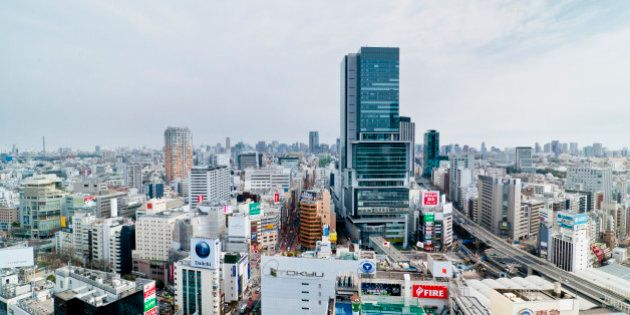 TOKYO, JAPAN - MARCH 13: Shibuya Hikarie, a new high-rise complex with cultural space just east of Shibuya...
