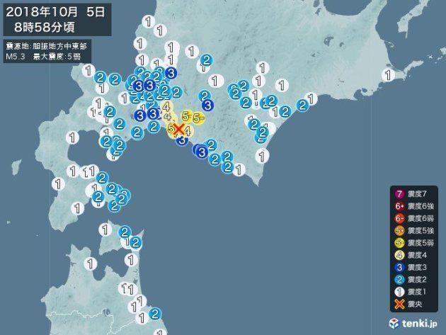 地震の様子