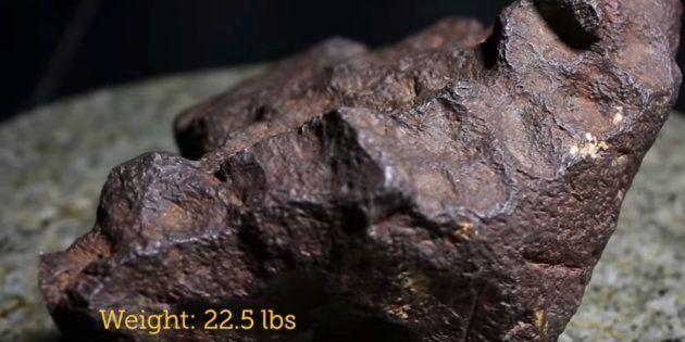 ドアの重しは隕石だった。アメリカの民家の石が、約1100万円の価値があると判明