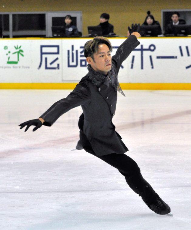 高橋大輔、西日本選手権に進出 フリー演技後に苦笑いも