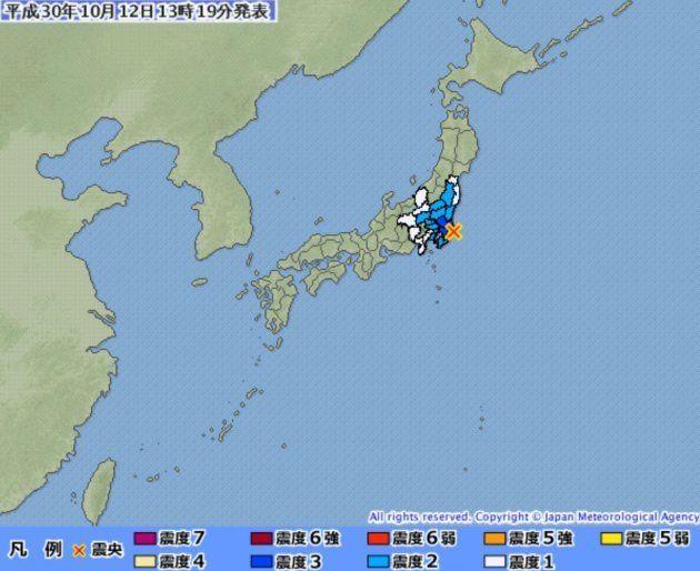 【地震情報】千葉県北東部で震度4 茨城などで震度3