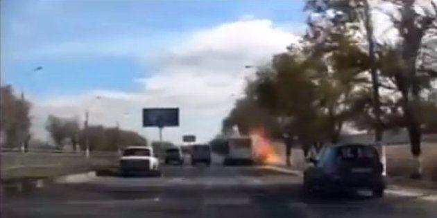 ロシア南部ボルゴグラードの路線バスで自爆テロ