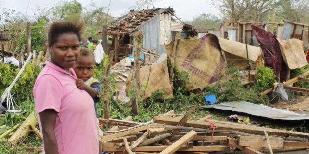PORT VILA, VANUATU - MARCH 17: In this handout image provided by UNICEF, little boy Ceriel (11 months)...