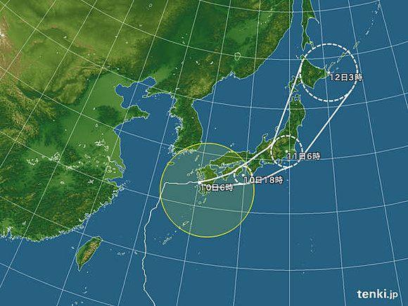 台風8号 鹿児島県に上陸(相原恵理子)