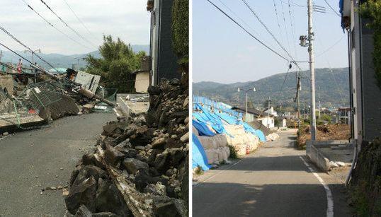 【熊本地震】震災から1年、被災地のいまは 地震直後の写真と比較