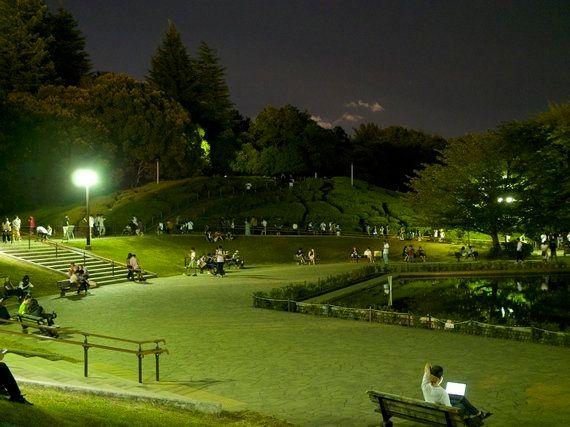 落ち着きを取り戻しつつある世田谷公園。