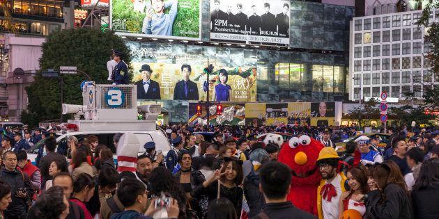 2016年の渋谷のハロウィンの様子
