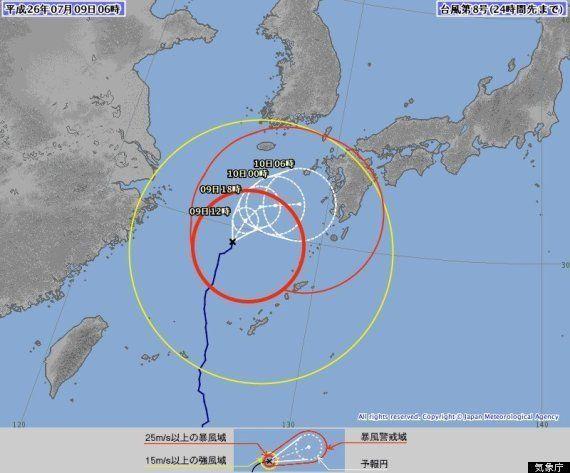 台風8号、7月10日に九州上陸か
