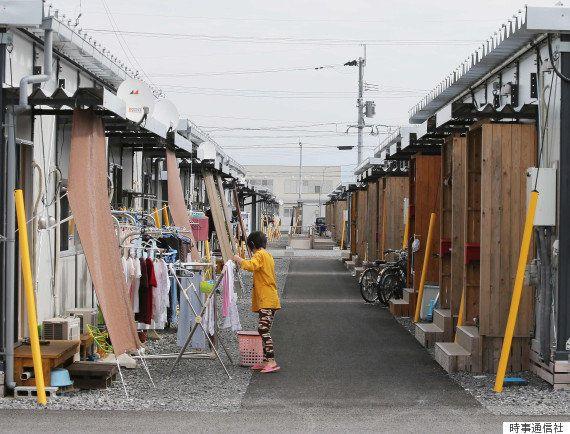 多くの被災者が生活している仮設団地(2016年10月、熊本県益城町)