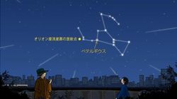 オリオン座流星群、ピークの時間は10月22日未明の午前2時ごろ。
